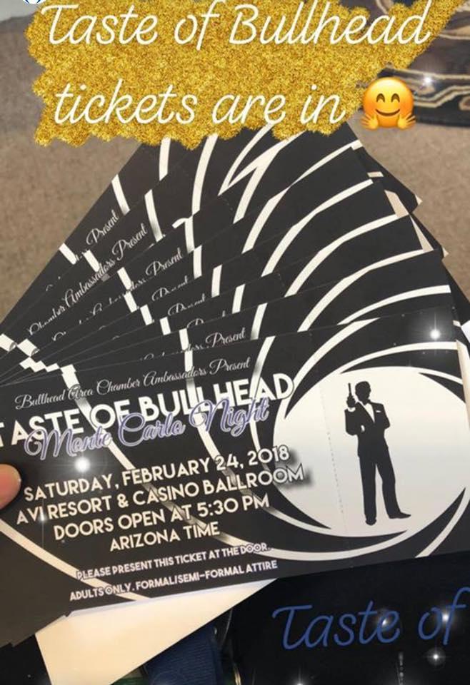 We've joined the Chamber! Taste of Bullhead tomorrow