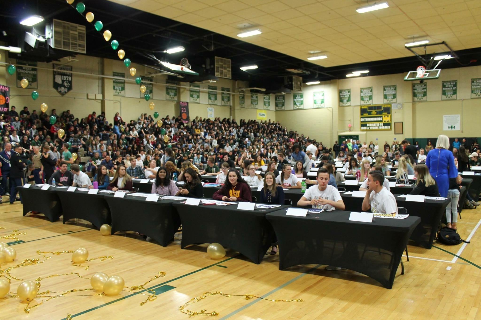 """MHS Seniors Take Part In """"Signing Day"""""""