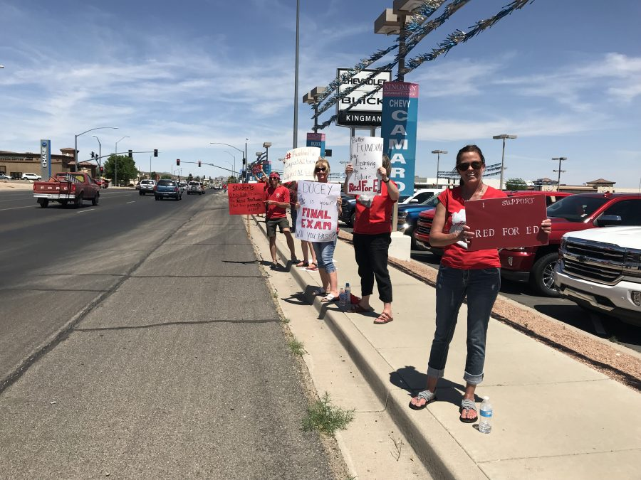 #RedForEd Protests Underway In Kingman