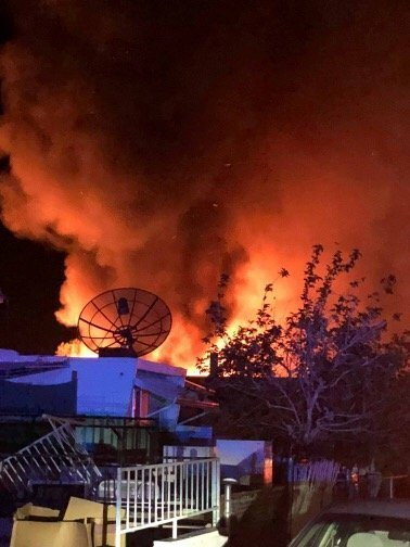 Fire Engulfs Homes After Explosion
