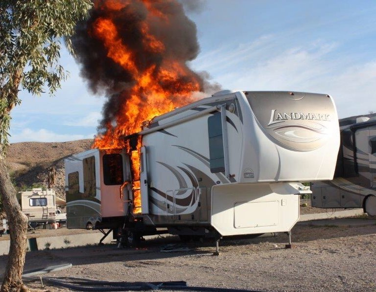 RV Destroyed In Morning Fire