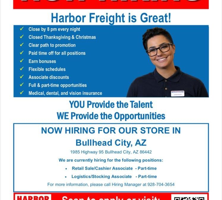 Harbor Frieght Hiring