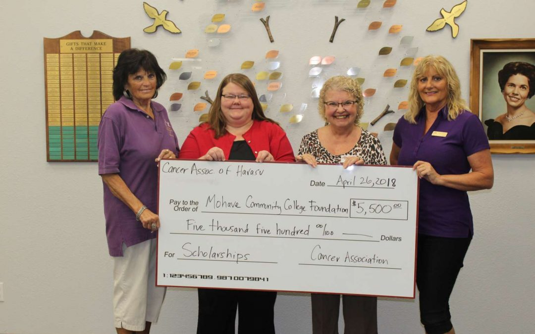 Cancer Association of Havasu Donates $10K For MCC Scholarships