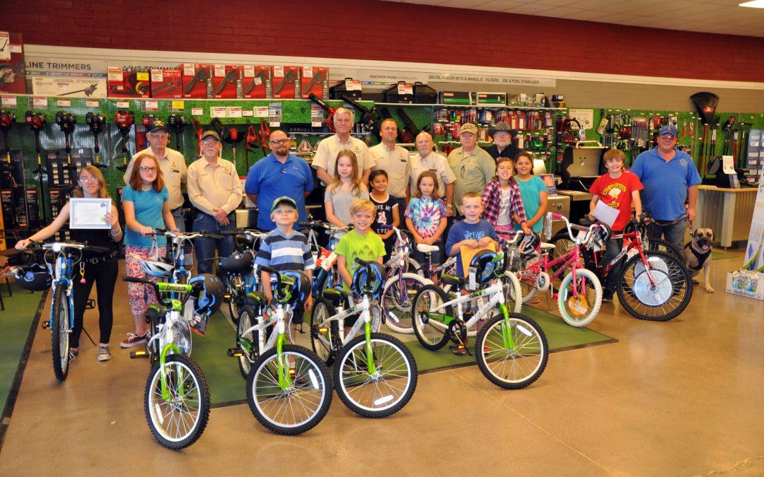 Kingman Masonic Lodge Gives 14 Bicycles Away
