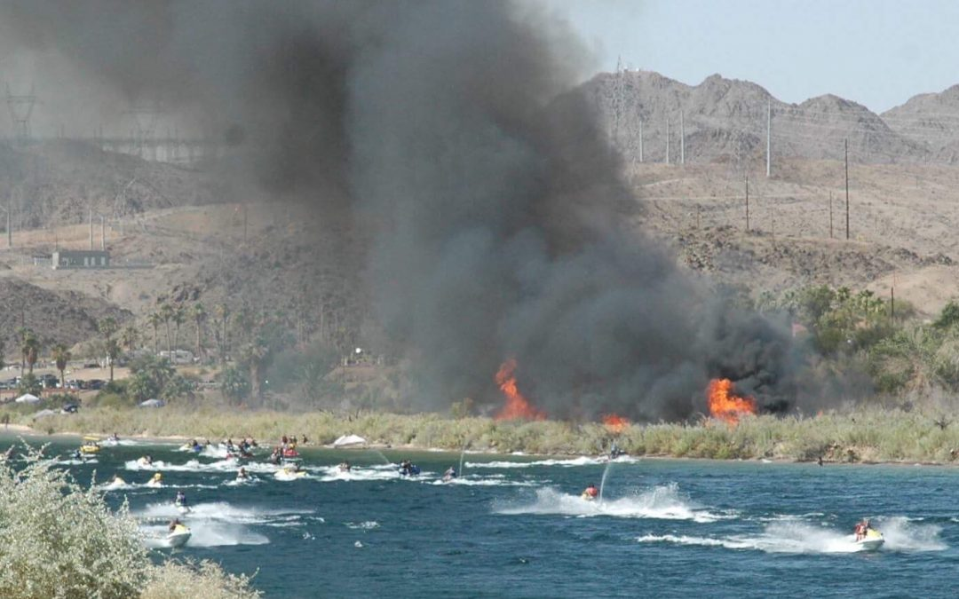 Vehicle Fire Ignites Brush Fire At Davis Camp The Bee The Buzz In - Laughlin car show 2018