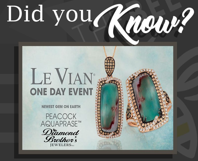 Did You Know–Diamond Brother's Le Vian Trunk Show