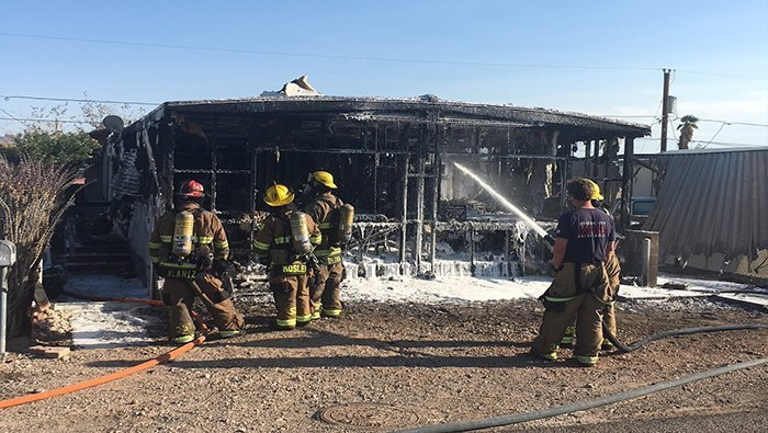 Blaze Destroys Bullhead City Mobile Home