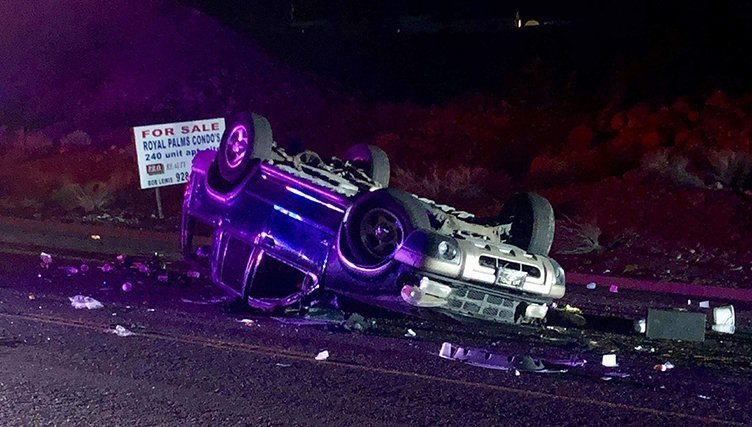 Driver Injured In Silver Creek Rollover