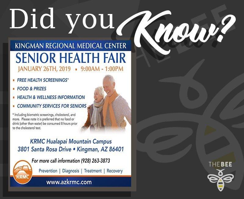 Senior Healthcare Fair Slated For Jan. 26