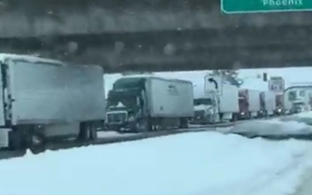 ADOT- Powerful Winter Storm Hammers Travel Across Much of Arizona