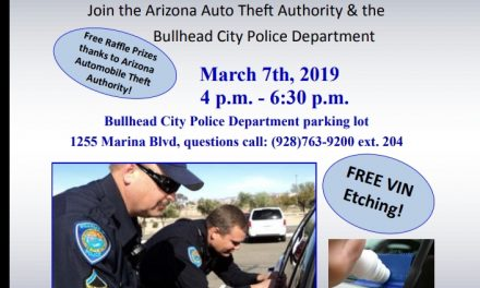 BULLHEAD – Vehicle Theft Prevention Event March 7th