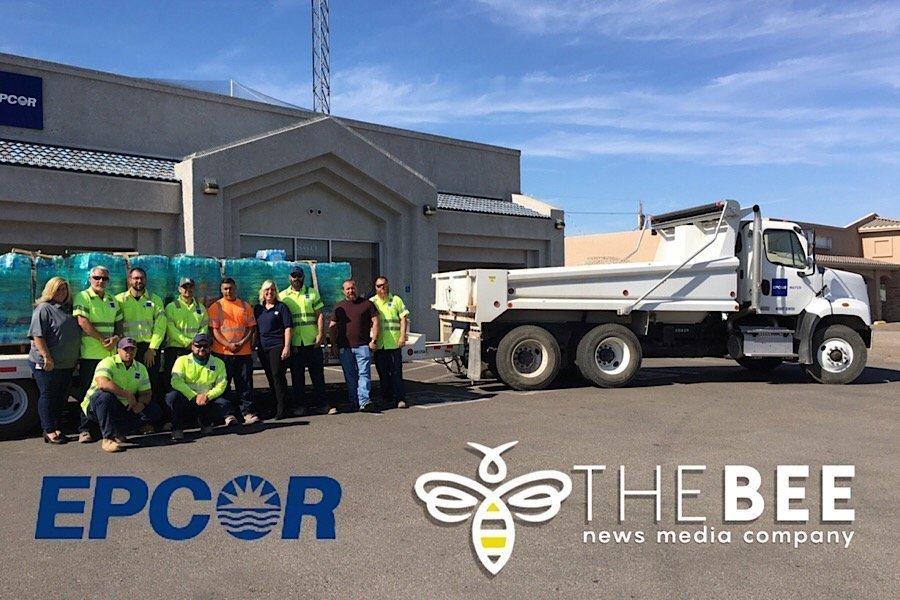 EPCOR DONATES 6,585 BOTTLES OF WATER