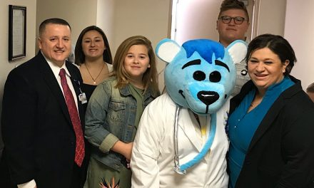 Dr. Ted E. Bear Welcomes Area Students to Valley View Medical Center