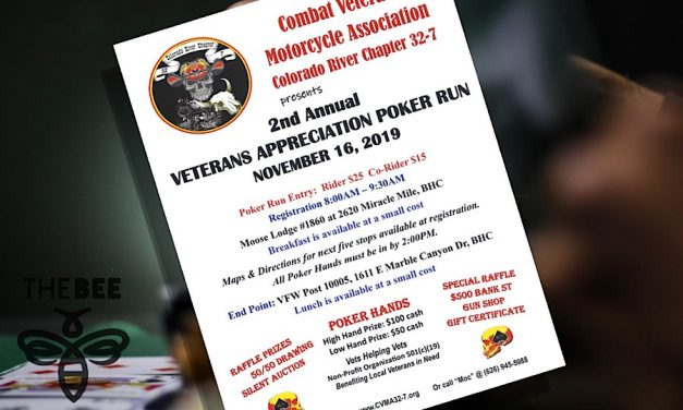 Colorado River Combat Veterans Motorcycle Association  Hosting 2nd Annual Poker Run