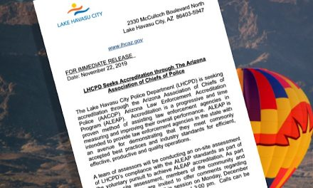 LHCPD Seeks Accreditation through The Arizona Association of Chiefs of Police